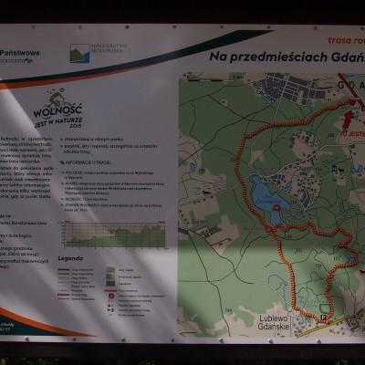 """Na przedmieściach Gdańska to jedna z 17 ścieżek rowerowych otwartych w 2015 r. w Lasach Państwowych w ramach akcji """"Wolność jest w naturze""""."""