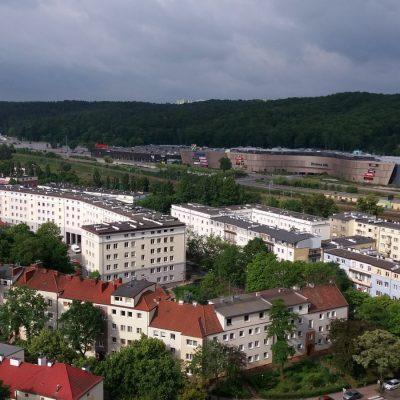 Widok z wieży kościoła o. Franiszkanów