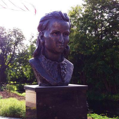 Odsłonięty 27 sierpnia 2016 r. pomnik Inki w Miłomłynie