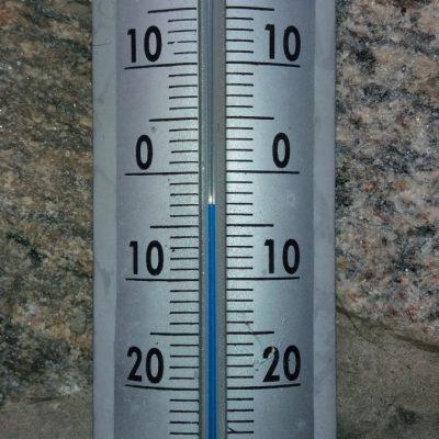 Temperatura podczas wycieczki 29 stycznia 2017 r.