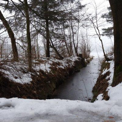 Kanał (?) łączący jezioro Głębokie z jeiorem Techlinka.