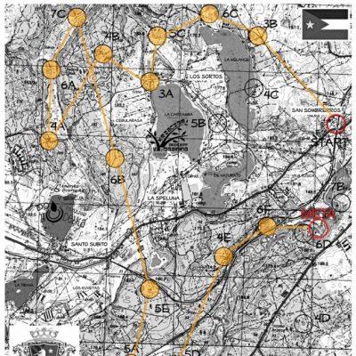 Schemat pokonanej trasy