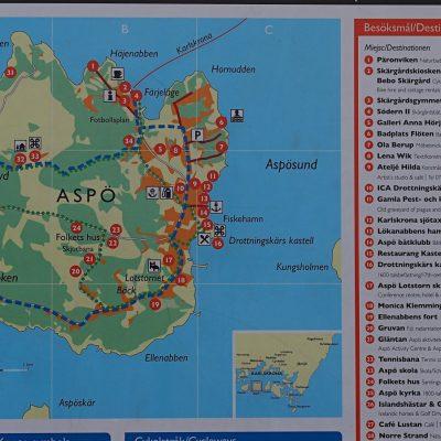 Rozmieszczenie najważniejszych obiektów na wyspie