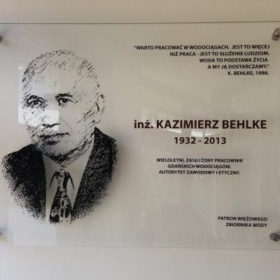 Patron zbiornika - inz. Kazimierz Behlke