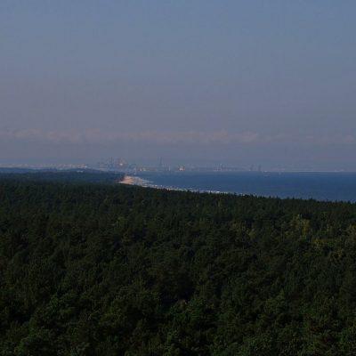 Widok z tarasu zbiornika Kazimierz na Trojmiasto